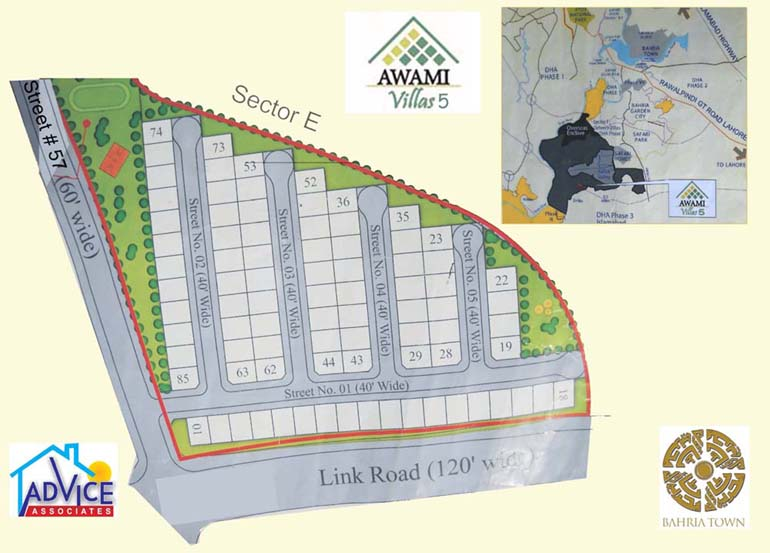 Awami villas sector 5 map bahria enclave islamabad for Awami villas 3 map