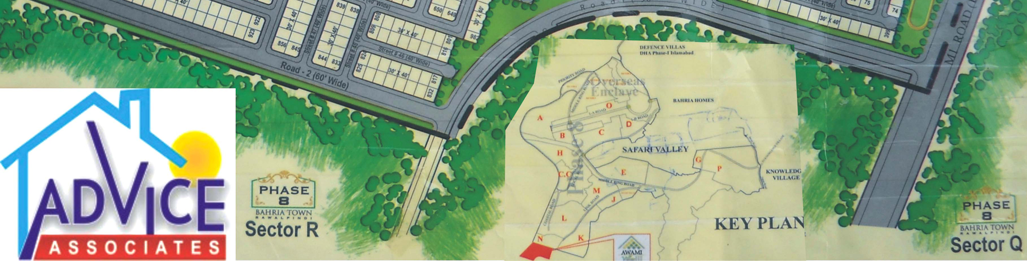 Map avami villas 3 Bahriatown islamabad