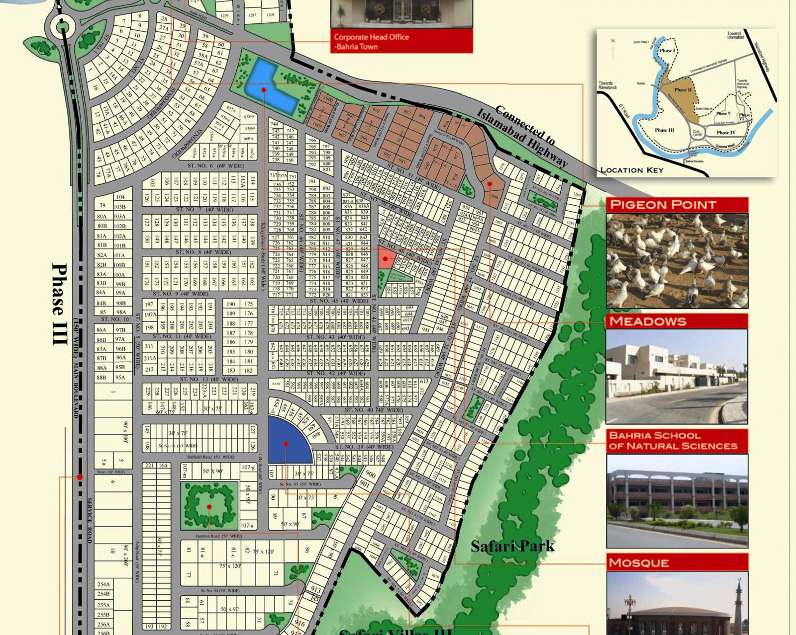 Map phase 2 bahria town islamabad pakistan