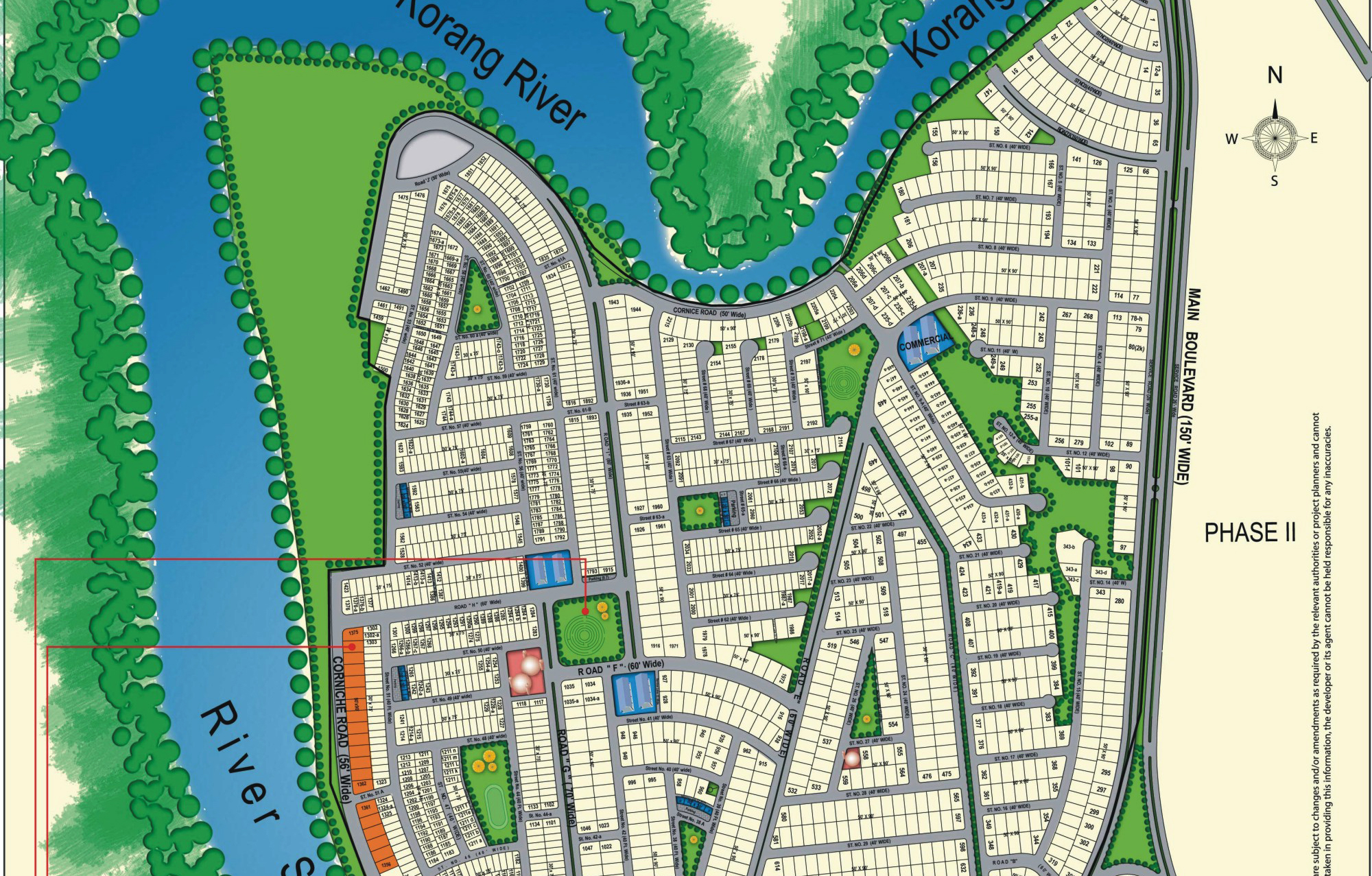 Map Bahria town phase 3