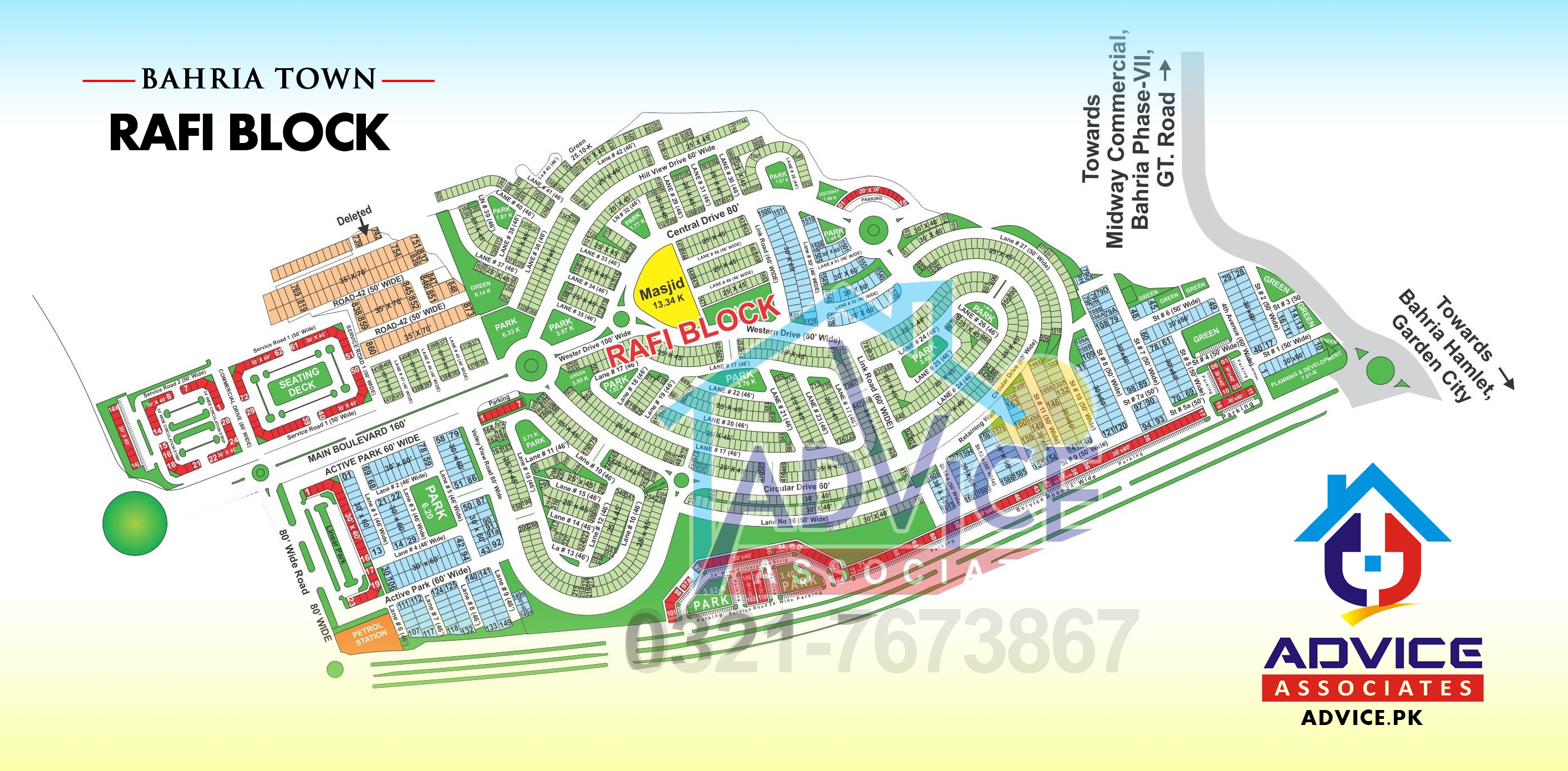 Map of Bahria Town all phases and blocks Map on