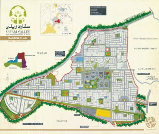 map bahria town Safari valle