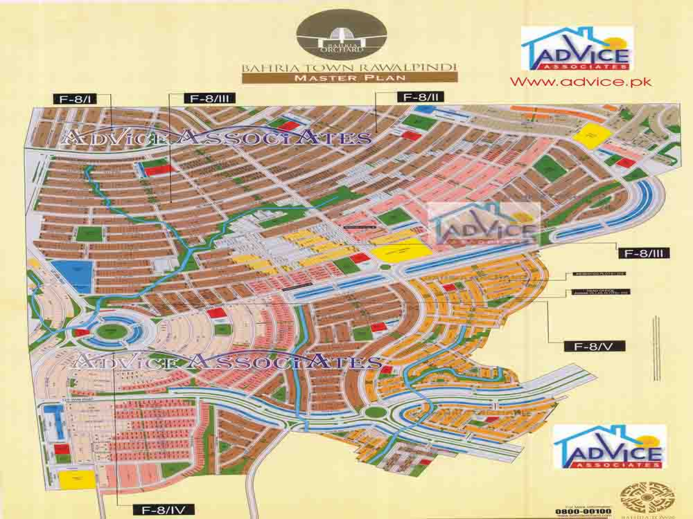 Map of Bahria Town all phases and blocks
